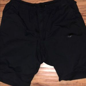Men black cargo shorts